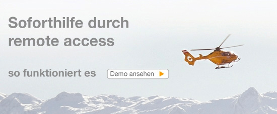 Soforthilfe durch remote access